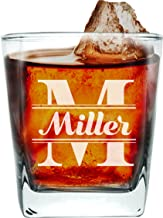 Custom Engraved Old Fashioned Double Wall Rocks Whiskey Glasses - Groomsmen or Groomsman Gift - 7 oz - Personalized for Free