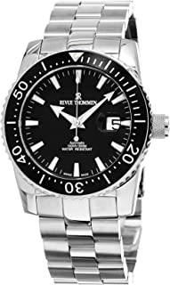 Revue Thommen Diver 46 MM Mens Black Dial Stainless Steel Automatic Date Swiss Watch 17030.2137