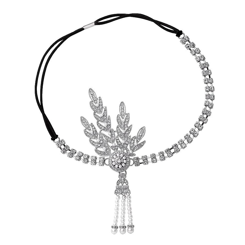 BABEYOND 1920's Flapper Headband Great Gatsby Inspired Headpiece 1920s Flapper Gatsby Accessories Art Deco Hair Accessories Headband