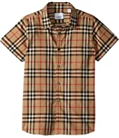 Burberry Kids - Fredrick Short Sleeve Pocket Shirt (Little Kids/Big Kids)