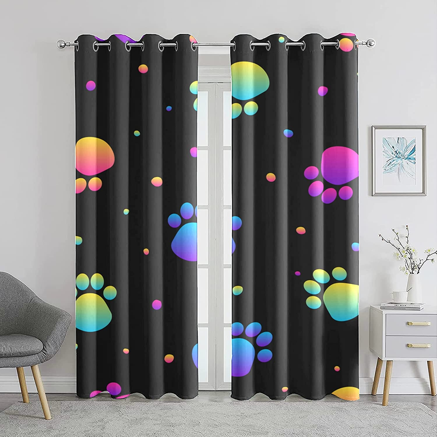 Curtains for Room Max Max 66% OFF 47% OFF Abstract Rainbow Seamless Stylis Swatch Modern