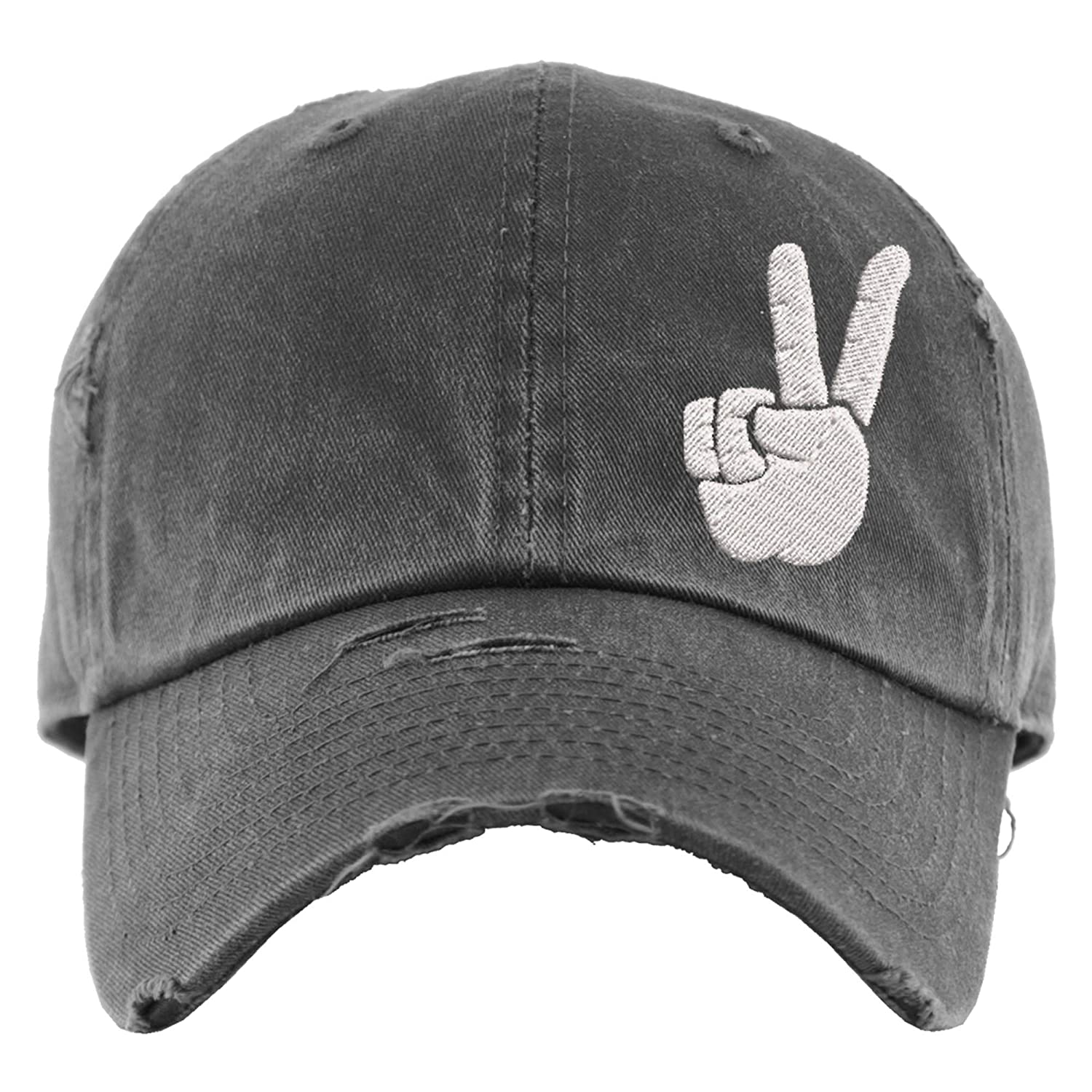 Don't miss the campaign Peace Hat Distressed Baseball Chicago Mall Sign Ponytail Cap OR