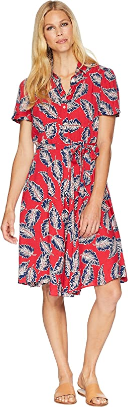 Printed Fit-and-Flare Dress