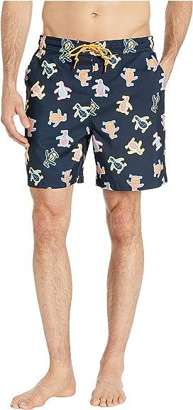 5a064d22cb Original Penguin Color Block Elastic Waist Swim Shorts at Zappos.com