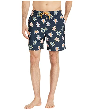 Original Penguin Festival Pete Non-Stretch Swim Shorts (Dark Sapphire) Men