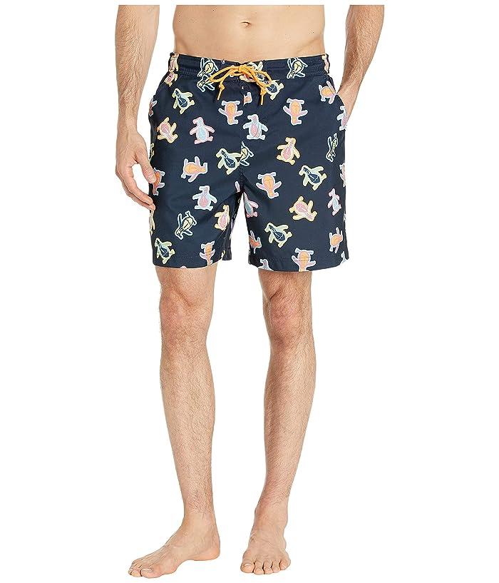 b78776c4077ad Original Penguin Festival Pete Non-Stretch Swim Shorts (Dark Sapphire) Men