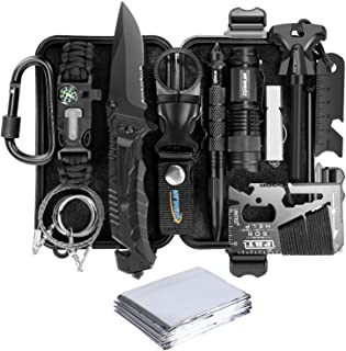 XUANLAN Emergency Survival Kit 13 in 1, Outdoor Survival Gear Tool with Survival..
