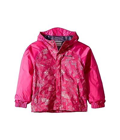 Columbia Kids Fast and Curioustm II Rain Jacket (Little Kids/Big Kids) (Haute Pink Invizza/Haute Pink Texture) Girl