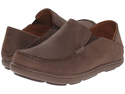 OluKai Kids Moloa (Todder/Little Kid/Big Kid) (Dark Wood/Mustang) Boys Shoes