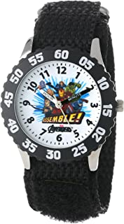 Marvel Kids' W000296 Avengers Stainless Steel Time Teacher Watch