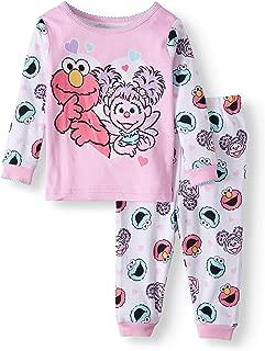 Sesame Street Elmo and Abby Cadabby Baby Girl 2 Piece Sleepwear Pajama Set