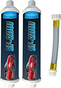 WaterSentinel SF-20W Spotless Car Wash Inline Deionized Water Garden Hose Water Filter & Extension Adapter for RV, Boat, Marine, Motorcycle, Home, Windows, Spot Free Wash, Solar Panels (2-Pack)