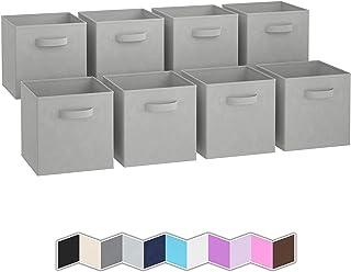 Boite de Rangement[Lot De 8] - Caisse Cube Pliable | Rangement Chaussures et Bureau | Bac Panier Coffre a Jouet | Parfait ...