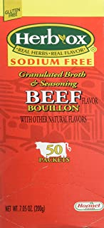 Hormel Herb Ox Beef Bouillon Sodium Free 50 Packets