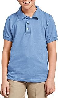 Dickies Boys' Short Sleeve Pique Polo, Light Blue, XX-Small 4