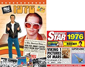 1976 Birthday Gifts Pack - 1976 DVD Film , 1976 Chart Hits CD and 1976 Greetings Card