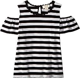 Kate Spade New York Kids - Stripe Cold Shoulder Top (Little Kids/Big Kids)
