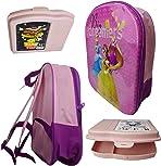 Bundel Children's Backpack in 3D Design Princess + Bento Lunch Box, Children's Lunch Box, Breakfast Box, Girls Gift Set for Picnic, Nursery or Preschool Year