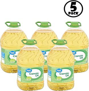 (Pack of 5) Great Value Canola Oil, 1 gal