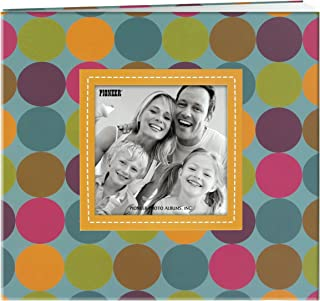 Pioneer Photo Albums MB-88EVF/D 20 Page Designer Printed Raised Frame Dots Cover Scrapbook for 8 by 8-Inch Pages