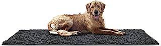 FurHaven Pet Dog Mat   Muddy Paws Towel & Shammy Rug, Stone (Gray), Runner