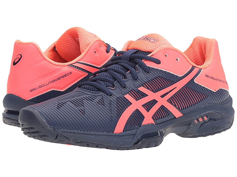 ASICS Gel-Solution(r) Speed 3 (Indigo Blue/Diva Pink) Women