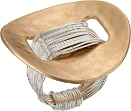 Robert Lee Morris - Two-Tone Wire Wrap Disk Ring