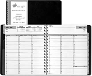 $21 » 2021 Black Ensight Tabbed Appointment Book & Planner 8.5 x 11 inches, Daily Hourly Weekly Planner, Calendar and Schedule B...
