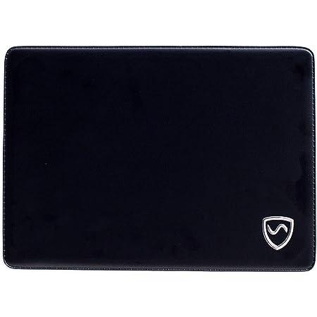 """SYB - Cuscinetto per Laptop - Protezione Contro Onde elettromagnetiche e Calore (Tablet Fino a 11"""", Pelle Vegan Jet Black)"""