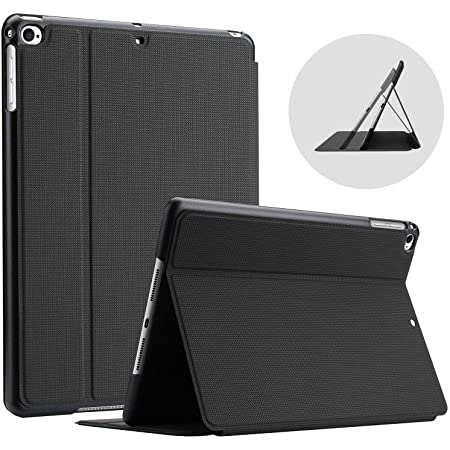ProCase iPad 9.7 (2018 & 2017, Old Model) / iPad Air 2 / iPad Air Case, Slim Stand Protective Folio Case Smart Cover for iPad 9.7 Inch 5th/6th Generation, Also Fit iPad Air 2 / iPad Air -Black