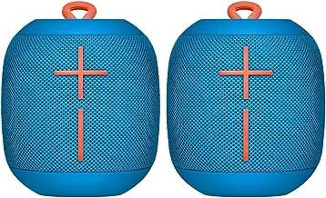 2 Pack Ultimate Ears WONDERBOOM Super Portable Waterproof Bluetooth Speaker - Deep Blue (Renewed)