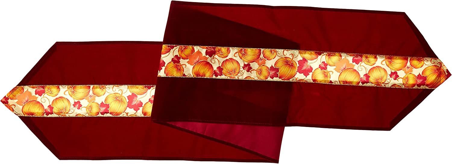 Amazon Com Autumn Leaves Fabric Table Runner Party Accessory 1 Count 1 Pkg Thanksgiving Talbe Runner Kitchen Dining
