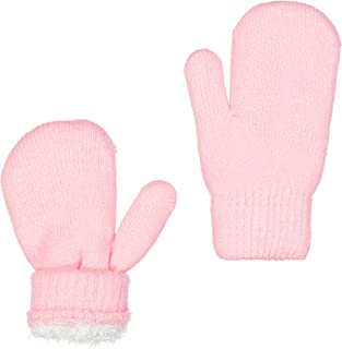 ZEHU Unisex Kids Toddler Soft Plush Knit Faux Fur Lining Warm Winter Mittens