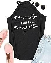 OUNAR Mamacita Needs A Margarita Tank Mom Shirt Sexy Girl Tee Cinco De Drinko Funny Mexican Graphic Top