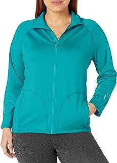 Just My Size Womens OJ906 Active Full-Zip Mock Neck Jacket Long Sleeve Fleece Jacket