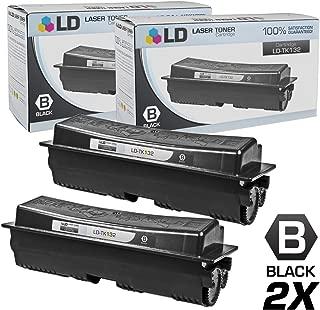 LD Compatible Toner Cartridge Replacement for Kyocera-Mita TK-132 (Black, 2-Pack)
