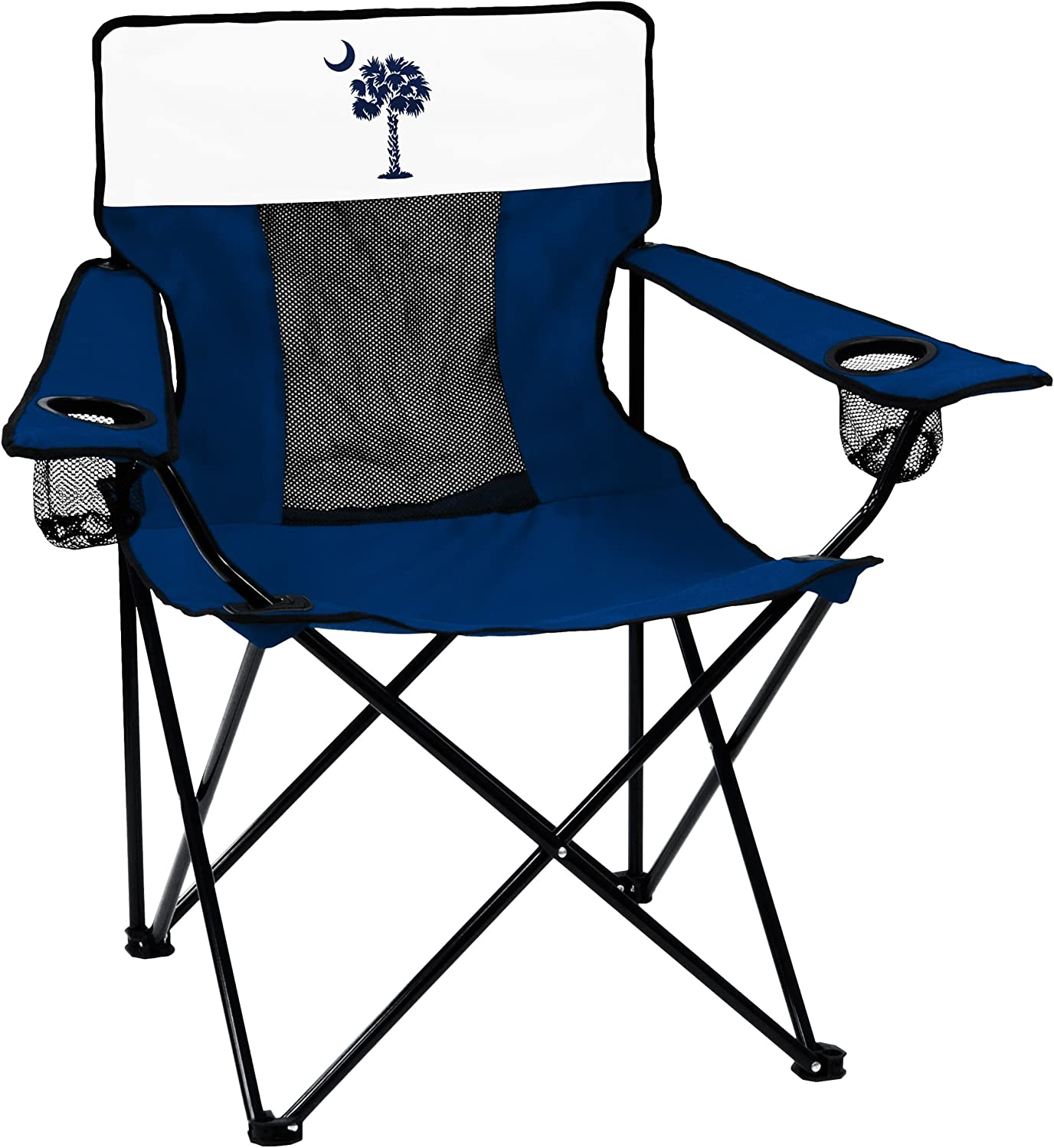Collegiate Folding Elite Chair with Mesh Back and Carry Bag, Unisex, 402-12E, Navy