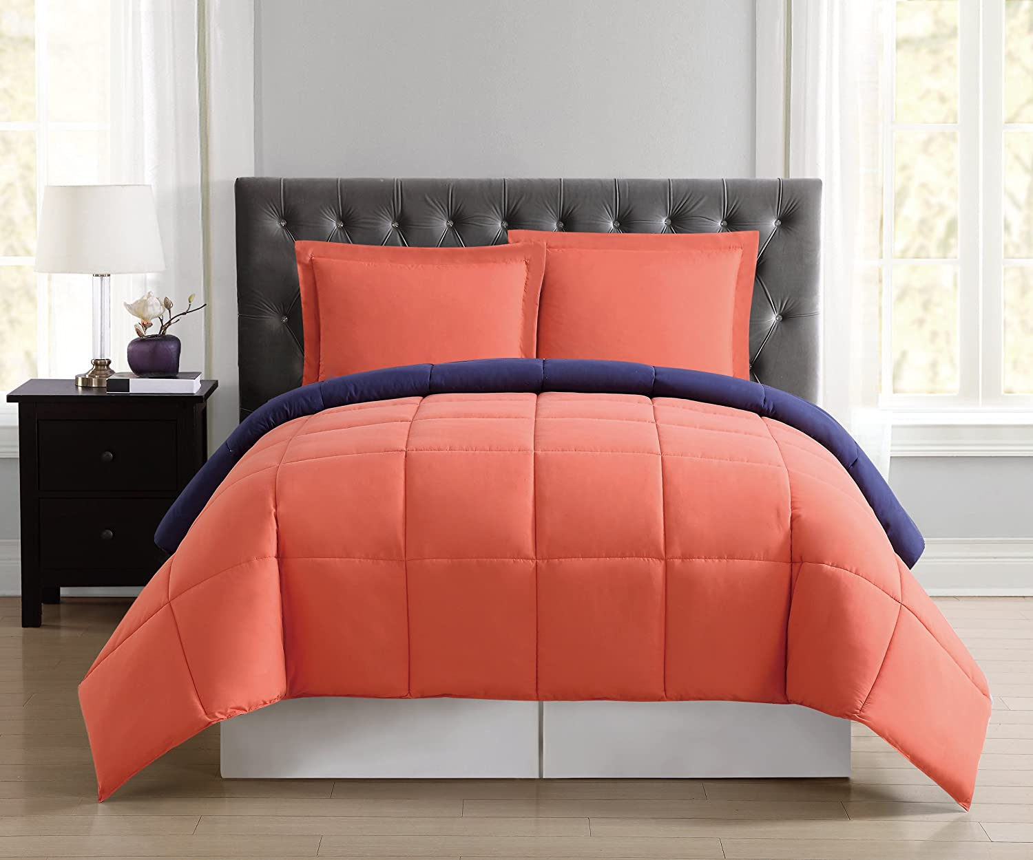 Truly Soft Everyday Reversible Comforter Ranking TOP17 Queen Orange Full Colorado Springs Mall Set