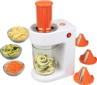 MasterChef Electric Spiralizer- 3-in-1 Vegetable Noodle Pasta Maker w 3 Different Zoodle Slicing...