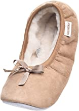 Womens/Ladies Genuine Full Sheepskin 'Ballet' / Pump Slipper Soft Suede Sole by Shepherd of Sweden