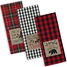 """DII Cotton Christmas Holiday Dish Towels, 18x28"""" Set of 3, Decorative Oversized Embroidered Kitchen Towels, Perfect Home a..."""