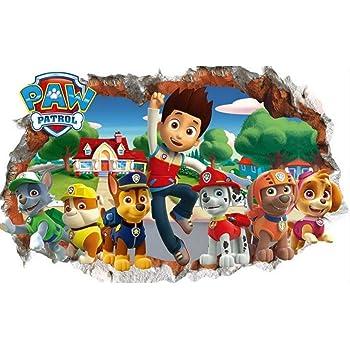 Dekoration Wandtattoo Kinderzimmer Paw Patrol 3d Deko Junge Madchen Wandsticker Babyzimmer Mobel Wohnen Anakui Com