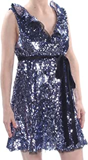 Free People Womens Sequined Mini Party Dress