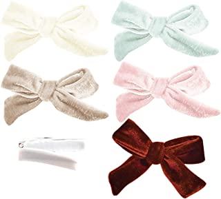California Tot Strong and Safe Fully Lined Alligator Bow Hair Clips Barrettes for Toddler, Little Girls, Mixed Set of 4 or 5