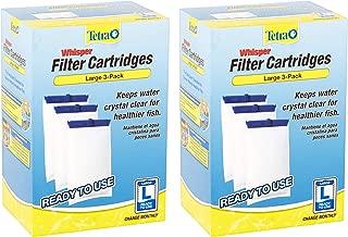 Tetra Whisper Large Aquarium Filter Cartridge,  3-Packs (2 boxes of 3-Packs)