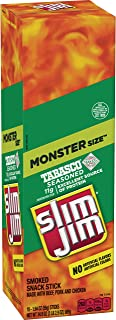 Slim Jim Monster Smoked Meat Sticks, Tabasco Flavor, 1.94 oz. 18-Count