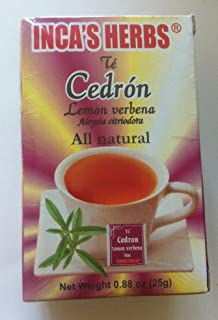 Inca's Herb Cedron (Lemon Verbena Tea) Single Box 0.88oz - Product of Peru