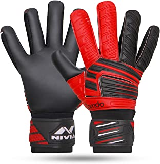 Nivia GG-893 Torrido Football Gloves,Assorted color (Black/Orange)