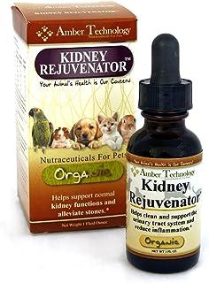 Amber Tech Kidney Rejuvenator - All-Natural Organic Renal Support w/Antioxidants for Pets