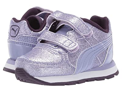 Puma Kids Vista Glitz Velcro (Toddler) (Sweet Lavender/Indigo/Puma White) Girls Shoes